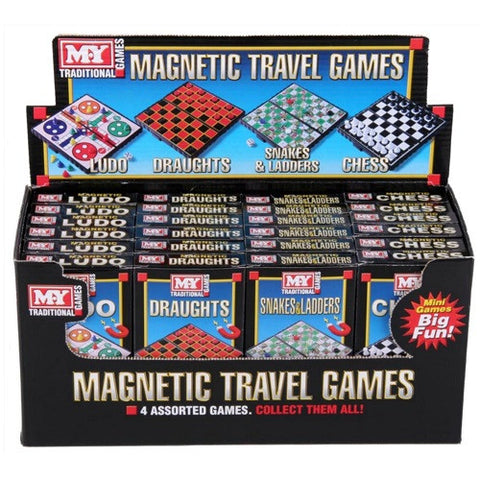 Pocket Size Magnetic Travel Board Games - Set of Four