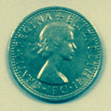Genuine Sixpence coin (used)