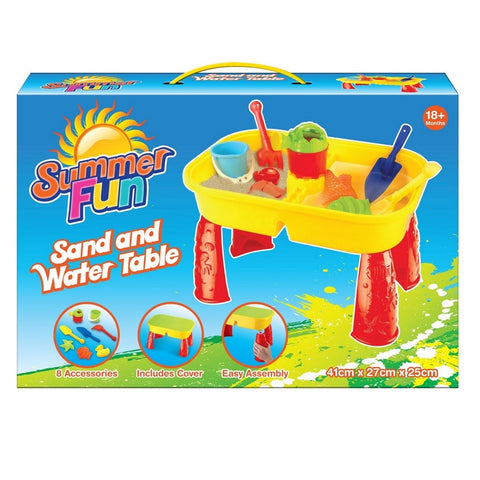 Sand and Water Activity table playset with accessories