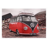 VW Splitty Glass Wall Plaque Choice Of Designs 30 x 20 cm
