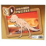 Five 3D Wooden Dinosaur Puzzle Construction Kits
