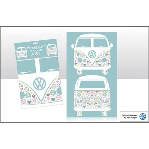 VW Patterned Camper Cotton Tea Towel