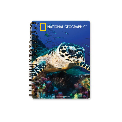 Sea Turtle National Geographic 3D Effect Notebook