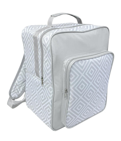 Alfresco Insulated Grey Geo Print 17L Cooler Bag Backpack