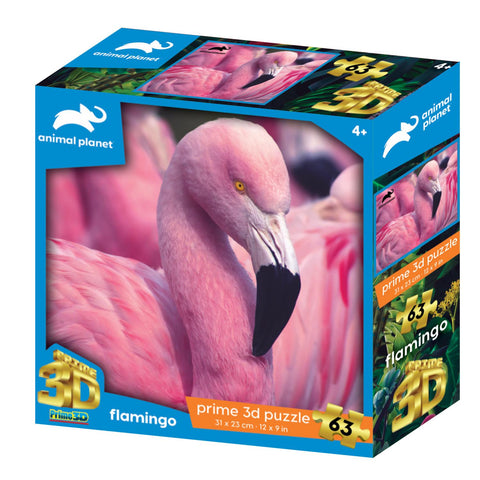 Flamingo 63pc Prime 3D Effect Animal Planet Jigsaw Puzzle