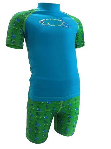 TWF Sunsafe Dinosaur Blue Two-Piece Set