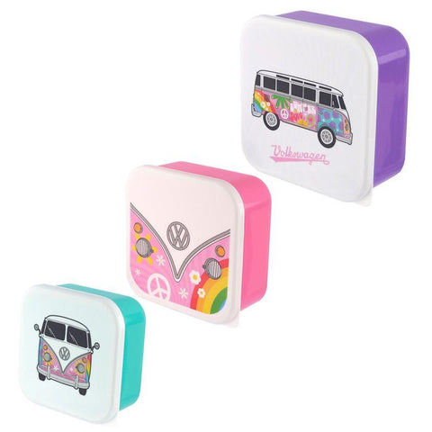 Set Of 3 VW Campervan Summer Love Sandwich Lunch boxes