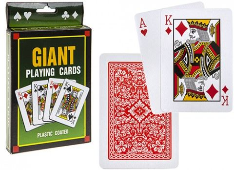 "Jumbo 5""  Pack Of Playing Cards"