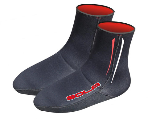 Sola Fleece Lined Blind Stitched 4mm Neoprene Fin Socks