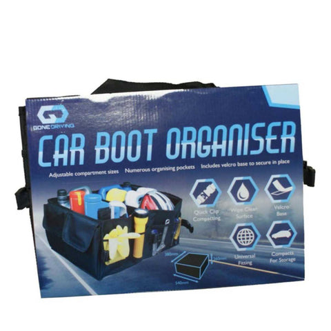 Car Boot Organiser With Adjustable Compartments By Boyz Toys