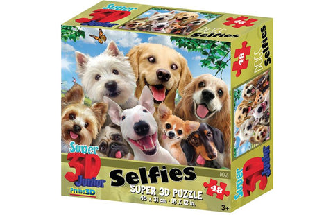 Howard Robinson Dog Selfie 48 Piece Super 3D Effect Puzzle