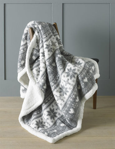 Country Club Throw Sherpa Fleece Nordic Design