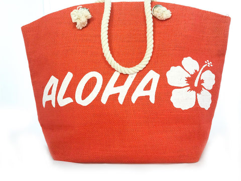 Aloha Jute Beach Shopper Bag