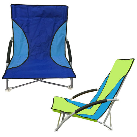 2 x Nalu Folding Low Chair With Arms for Outdoors