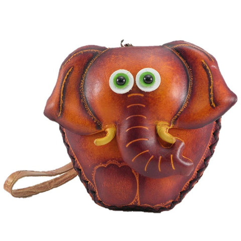 Leather Elephant Wristlet