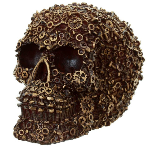 Skull, nuts, bolts and screw design Gold