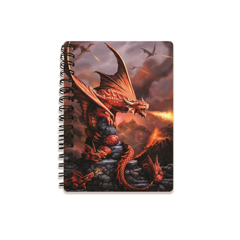 Fire Dragon 3D Effect Anne Stokes Notebook