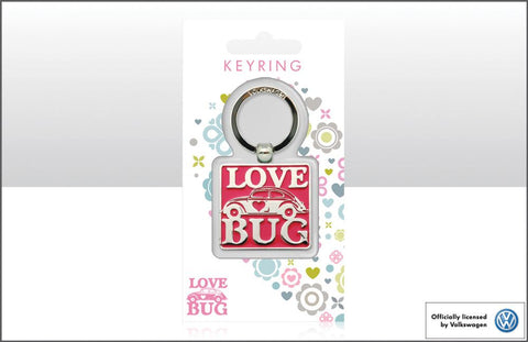 VW Love Bug Metal Keyring
