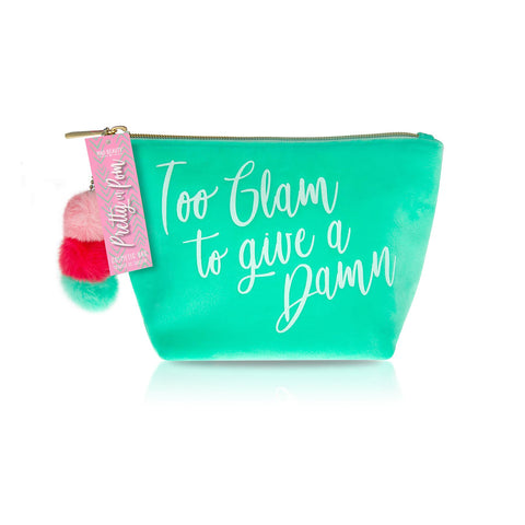 Too Glam To Give A Damn Cosmetic Bag By Mad Beauty