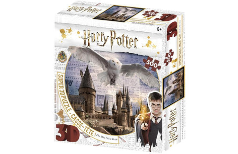 Harry Potter Hogwarts & Hedwig Super 3D Effect 500 pc Jigsaw Puzzle