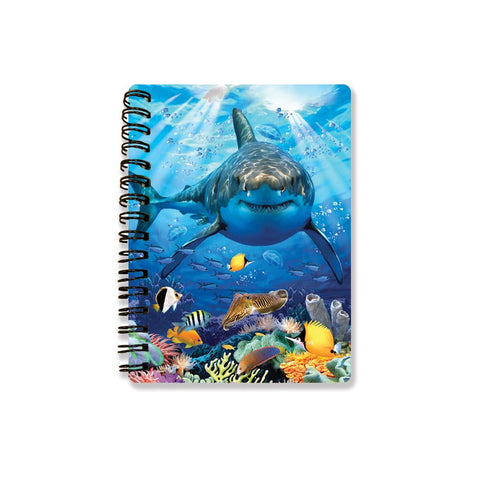 Great White Shark 3D Effect Howard Robinson Notebook