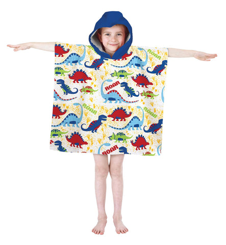 Microfibre Kids Poncho Pal Hooded Robe