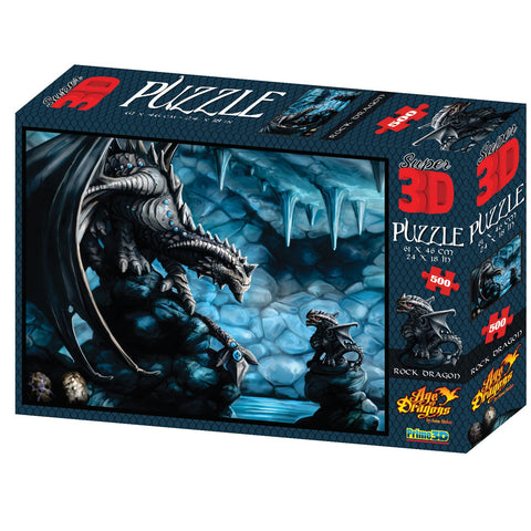 Anne Stokes Rock Dragon 500pc Super 3D Effect Puzzle