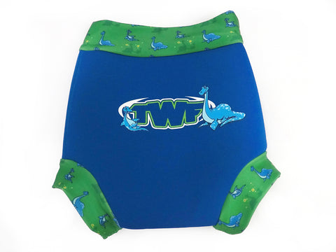 TWF Boys Sea Dinosaur Design Reusable Swim Nappy Cover