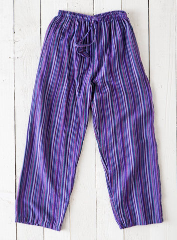 Gringo Fair Trade Nepalese Striped Cotton Hippy Trousers