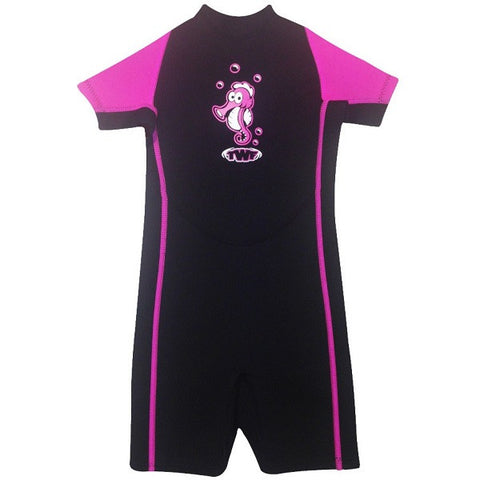 Toddlers Seahorse Shortie Wetsuit for up to 2 years