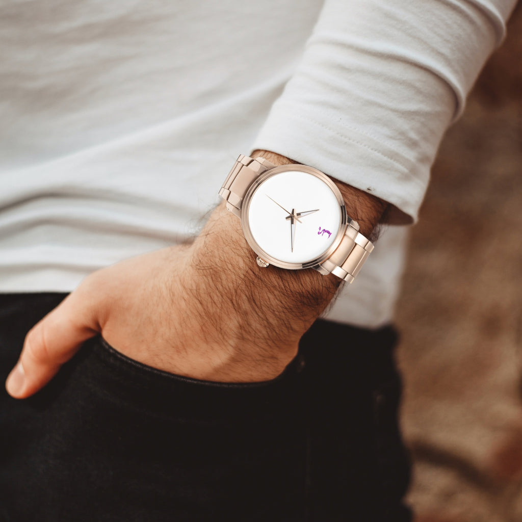 UN Rose Gold Steel Strap Automatic Watch