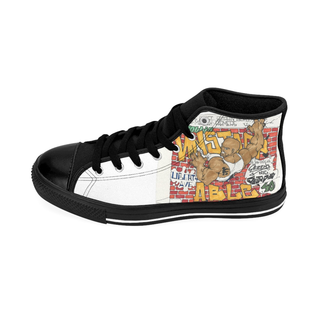 HOOD GRAFFITI Men's High-top Sneakers