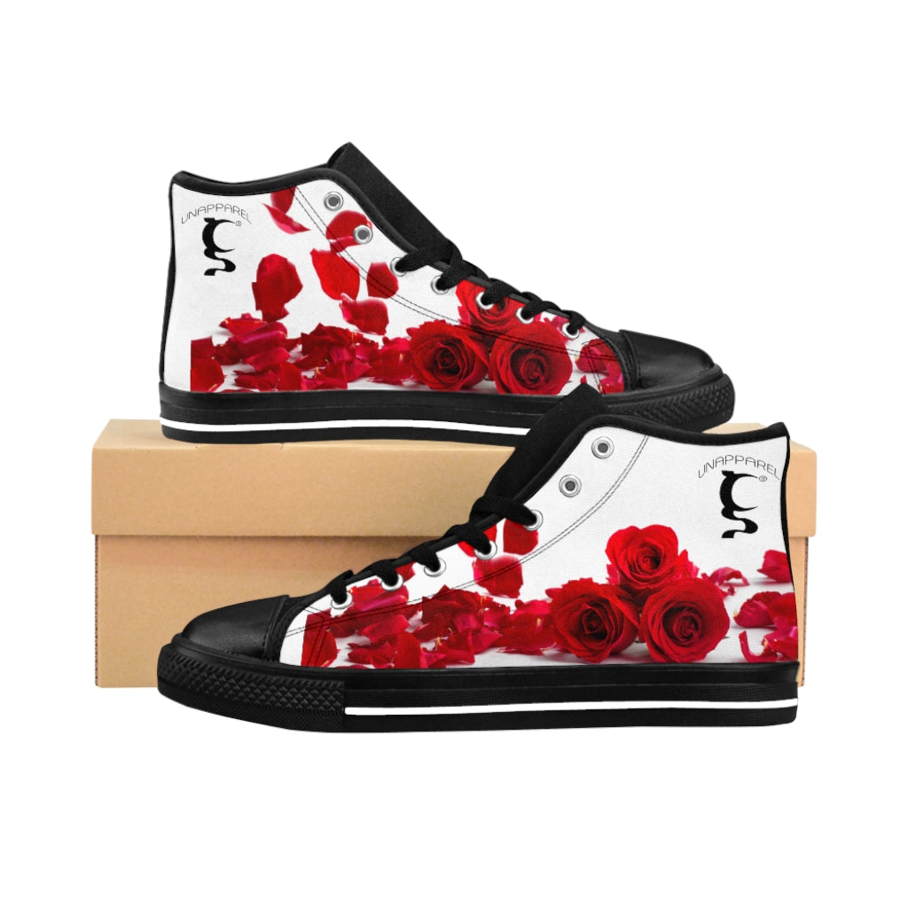 RED ROSES Women's High-top Sneakers