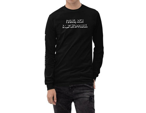 Young, Rich & Unstoppable Long Sleeve tshirt in 11 different colors