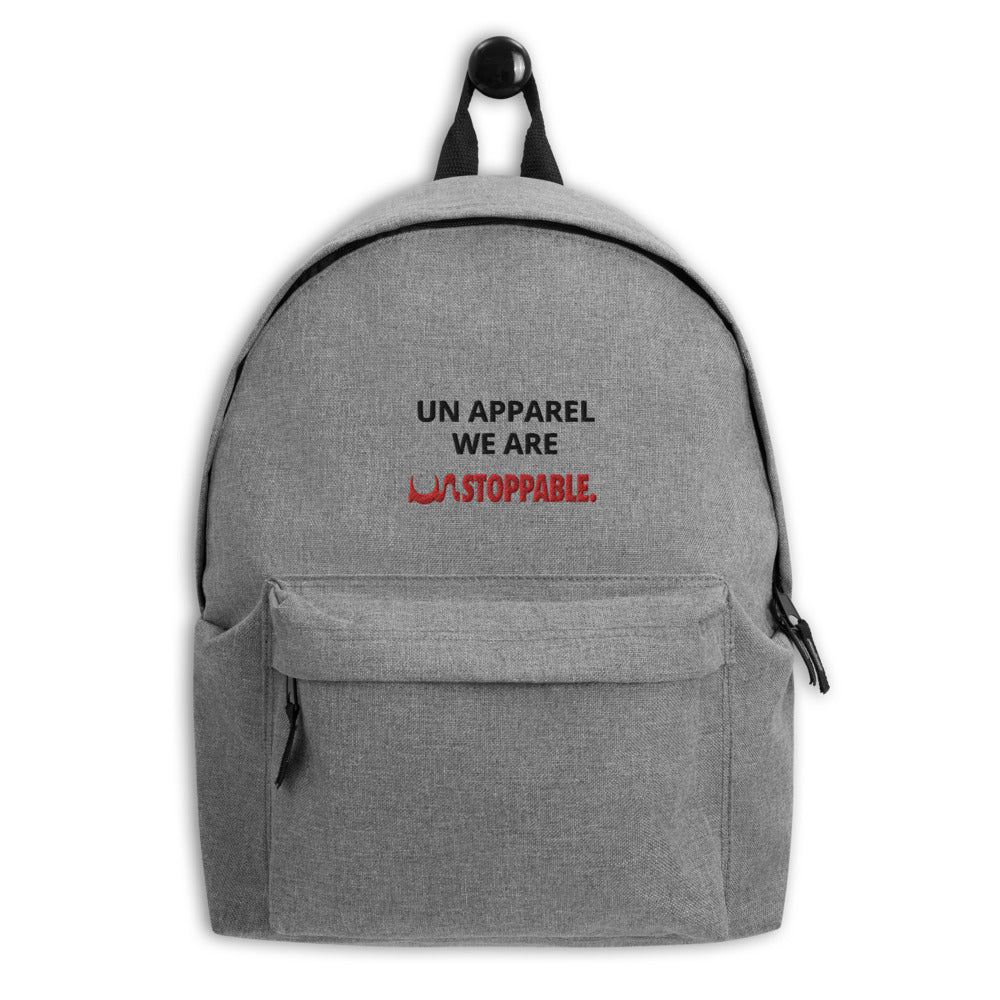 Embroidered WE ARE UN STOPPABLE Backpack