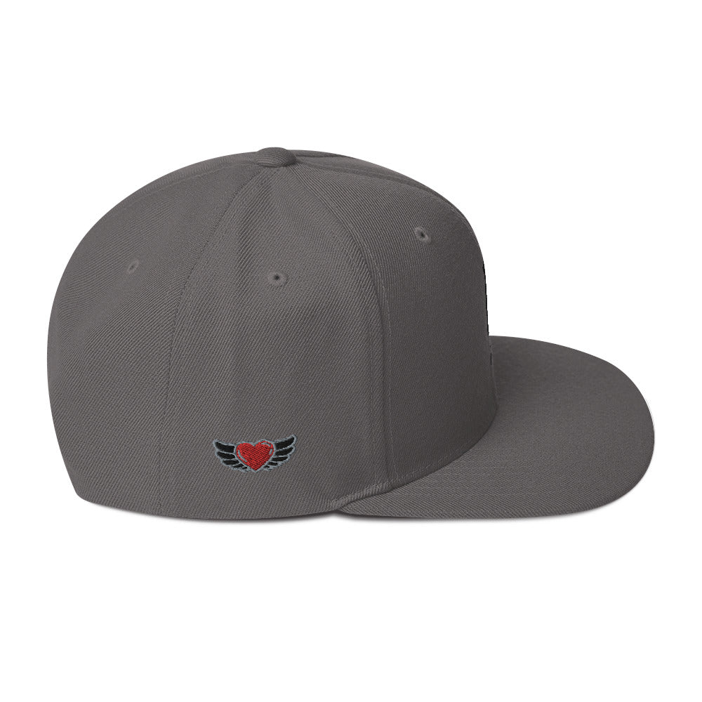 Embroidered Black UN Logo with Wing Heart in 7 different color Hats.