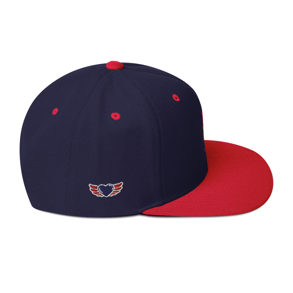 Embroidered Red UN Logo & Wing Heart on side of different colors Hats