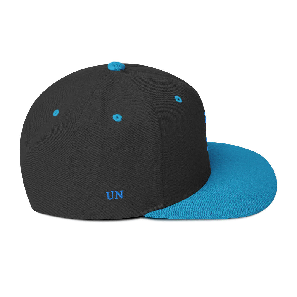 Embroidered UN Logo on front & UN on side in different Color Hats