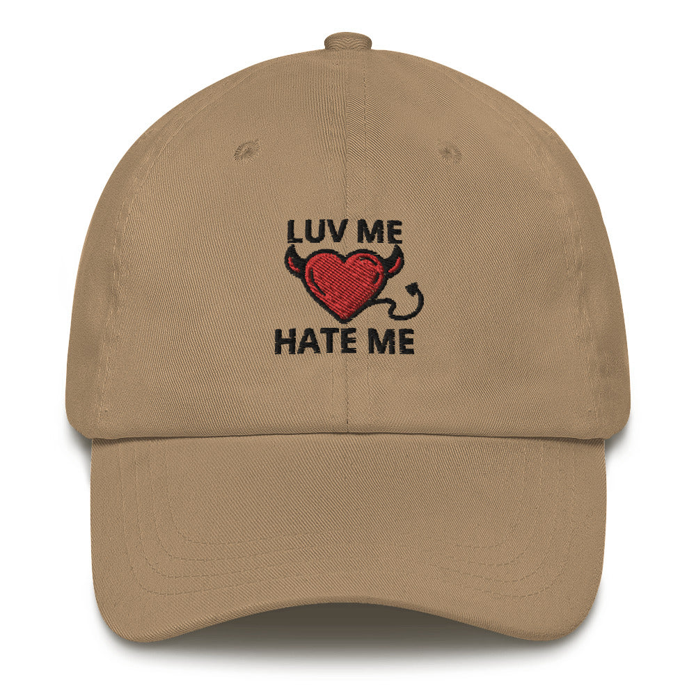Embroidered Luv Me Hate Me Dad Hats