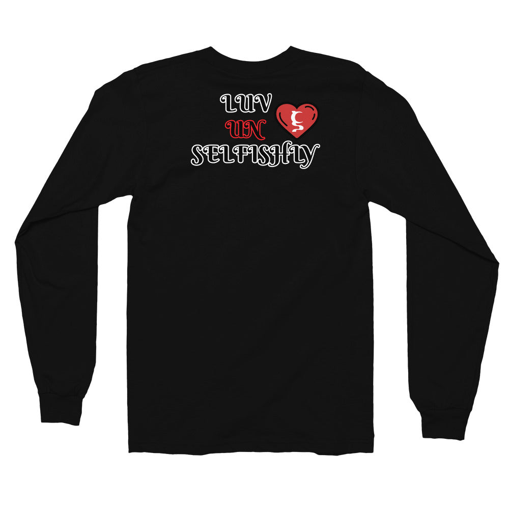 Luv Unselfishly Long sleeve t-shirt in 4 different colors