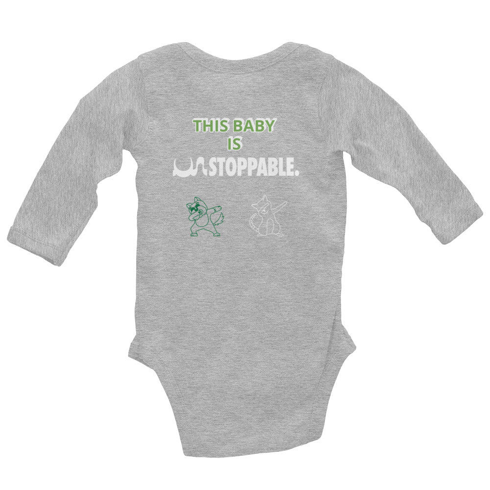 UN STOPPABLE BABY Long Sleeve Bodysuit