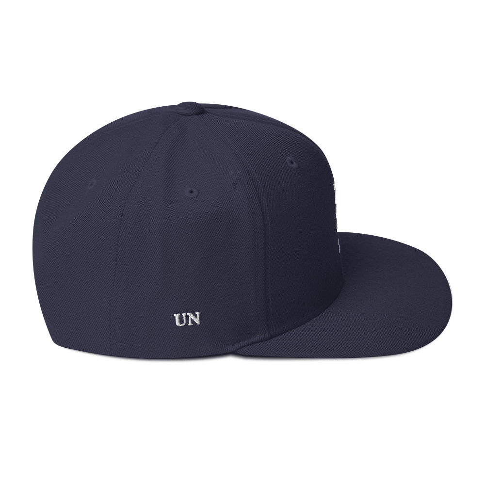 Embroidered White UN Logo in different color Hats