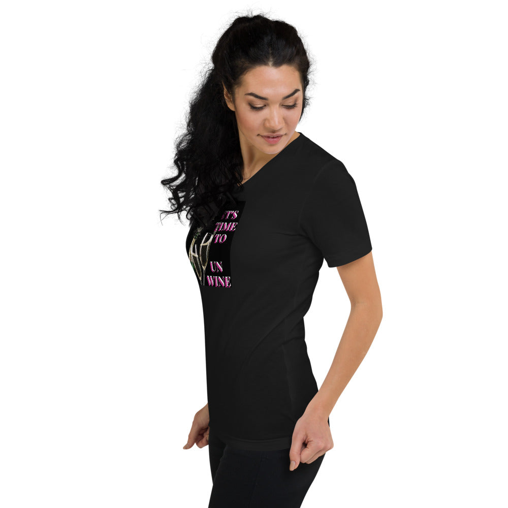 UN WINE V-Neck T-Shirt
