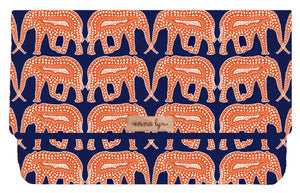Navy and Orange Elephants -Everyday