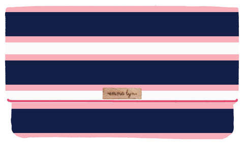 Navy and Pink Stripes- Chic