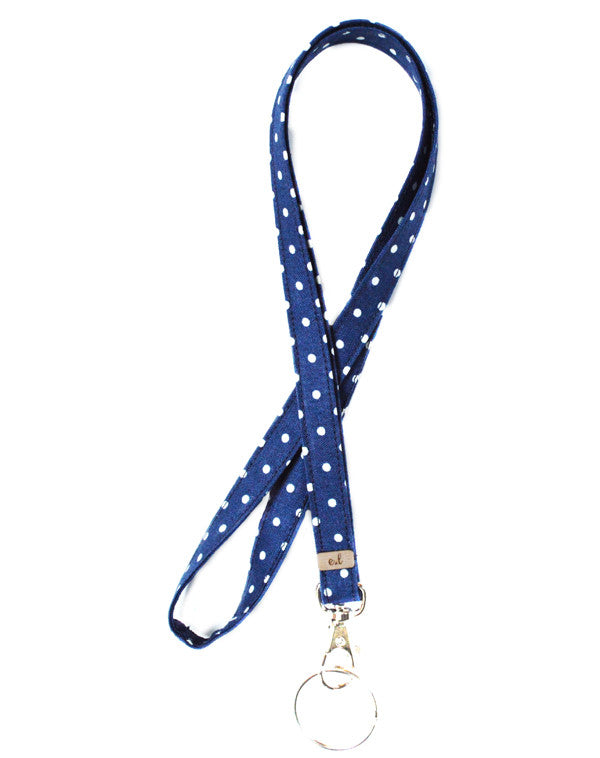 Preppy Dot Lanyard - Emma Lyn Designs