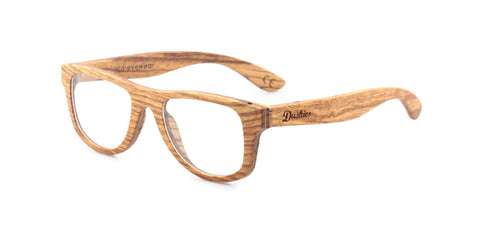 Marcellus - Full Frame Optical Glasses - Hand Crafted Pear & Zebrano Wooden Frames In Natural Timber Tones