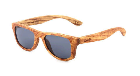 Marcellus - Full Frame Sunglasses - Hand Crafted Pear & Zebrano Wooden Frames In Natural Timber Tones