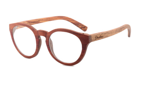 Patience - Full Frame Optical Glasses - Hand Crafted Red Sandanwood & Walnut Frame In Natural Timber Tones