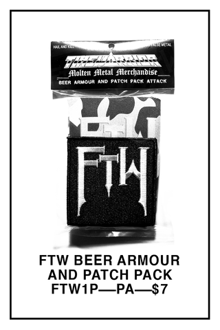 FTW Beer Armour and Patch Pack Attack